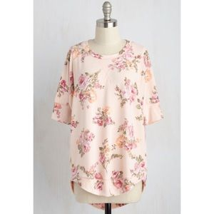 ModCloth Best of Botanical Top in Rose🌷